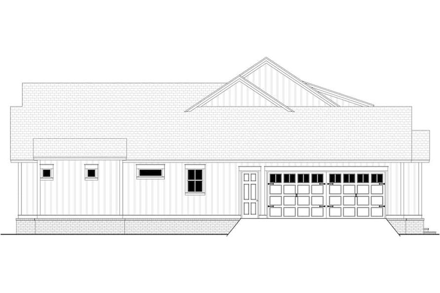 Home Plan Left Elevation of this 4-Bedroom,4998 Sq Ft Plan -142-1216