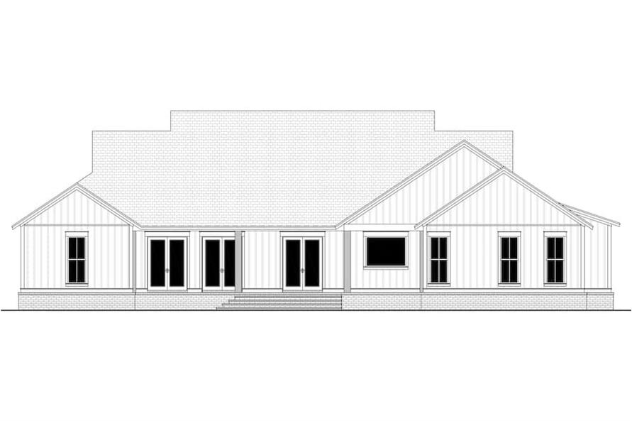 Home Plan Rear Elevation of this 4-Bedroom,4998 Sq Ft Plan -142-1216