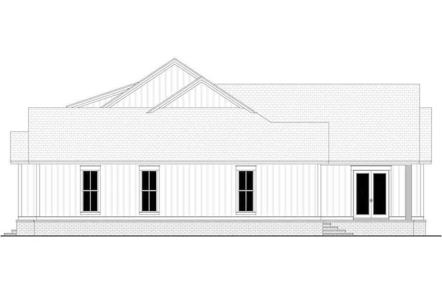 Home Plan Right Elevation of this 4-Bedroom,4998 Sq Ft Plan -142-1216