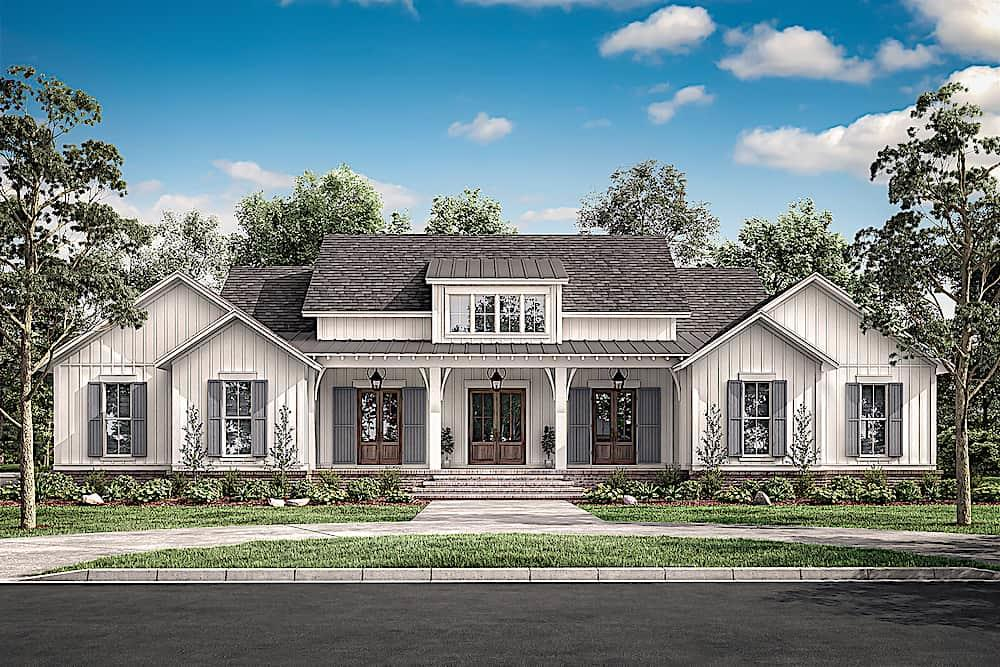 Ranch home (ThePlanCollection: Plan #142-1216)