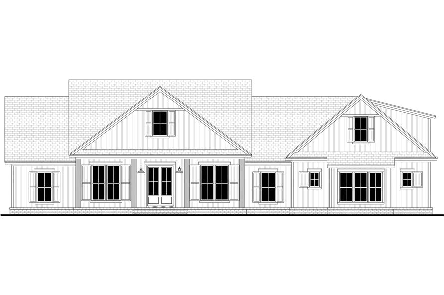 Home Plan Front Elevation of this 4-Bedroom,2832 Sq Ft Plan -142-1218