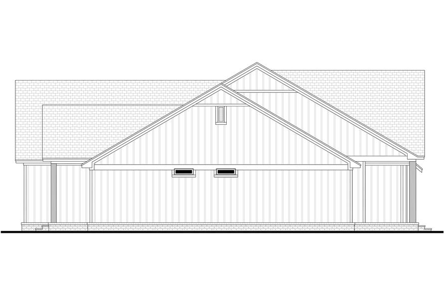 Home Plan Left Elevation of this 4-Bedroom,2832 Sq Ft Plan -142-1218