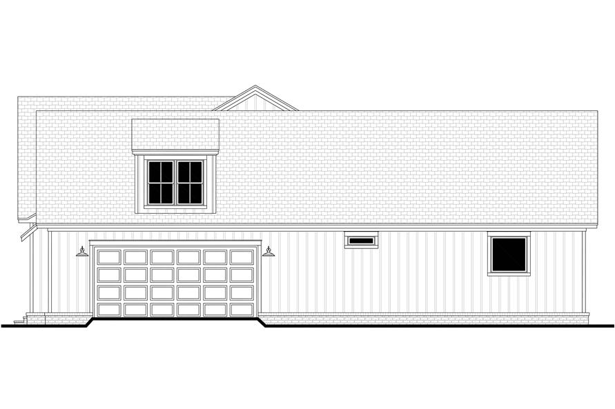 Home Plan Right Elevation of this 4-Bedroom,2832 Sq Ft Plan -142-1218