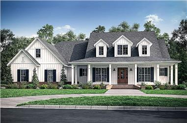 4-Bedroom, 2926 Sq Ft Farmhouse House - Plan #142-1220 - Front Exterior