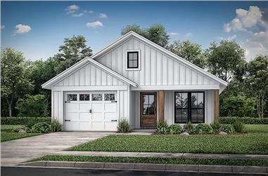 3-Bedroom, 1292 Sq Ft Ranch Home - Plan #142-1221 - Main Exterior