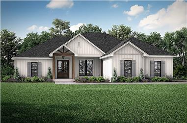 4-Bedroom, 1850 Sq Ft Ranch Home - Plan #142-1222 - Main Exterior