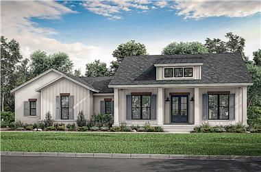 3-Bedroom, 2044 Sq Ft Ranch House - Plan #142-1223 - Front Exterior