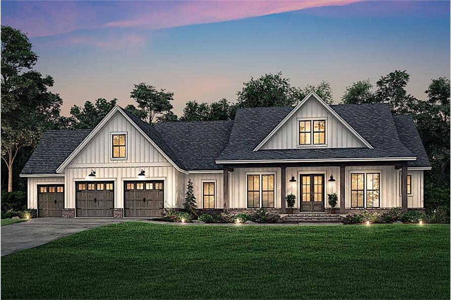 Home at Night of this 4-Bedroom,2763 Sq Ft Plan -2763