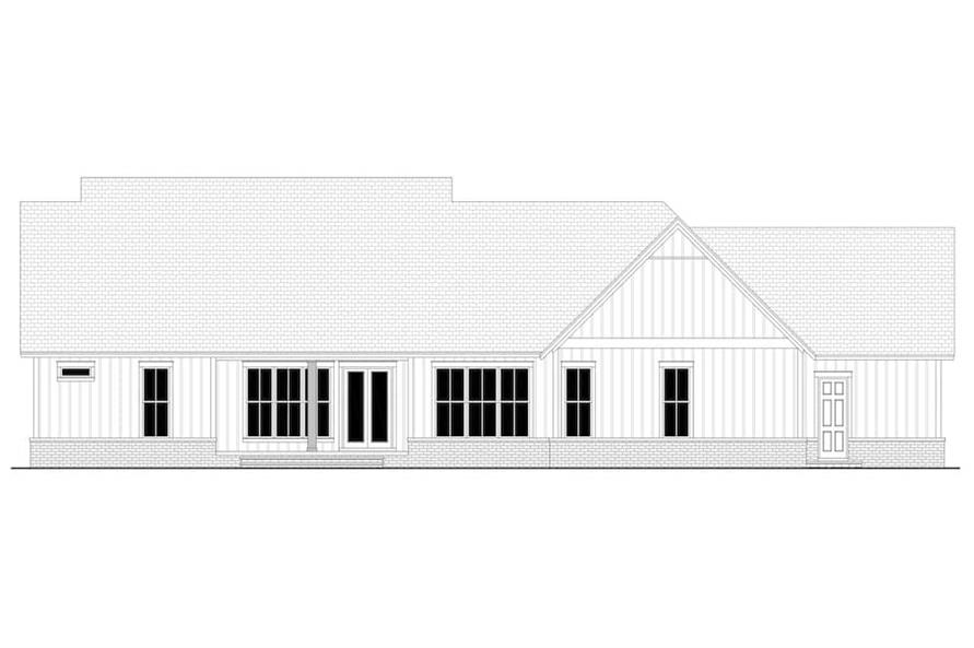 142-1224: Home Plan Rear Elevation
