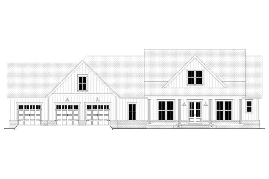 Home Plan Front Elevation of this 4-Bedroom,2763 Sq Ft Plan -142-1224