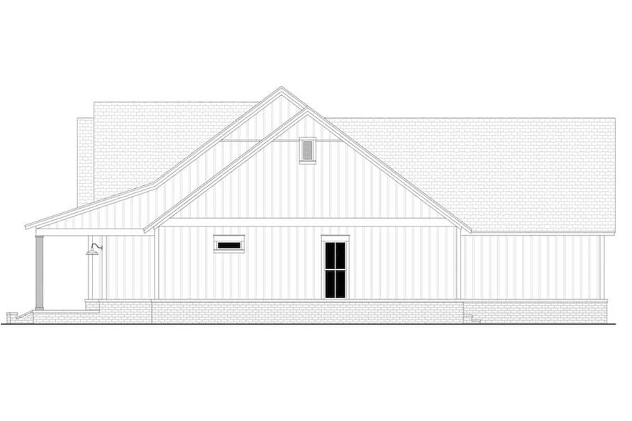 Home Plan Right Elevation of this 4-Bedroom,2763 Sq Ft Plan -142-1224