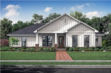 3-Bedroom, 1327 Sq Ft Country Home - Plan #142-1226 - Main Exterior