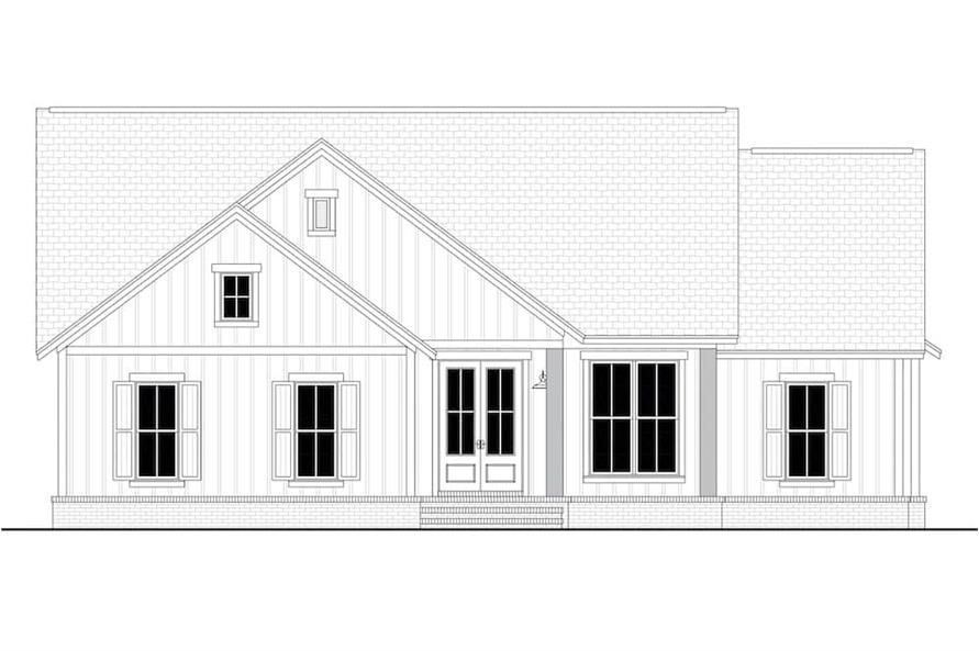Home Plan Front Elevation of this 3-Bedroom,1398 Sq Ft Plan -142-1228