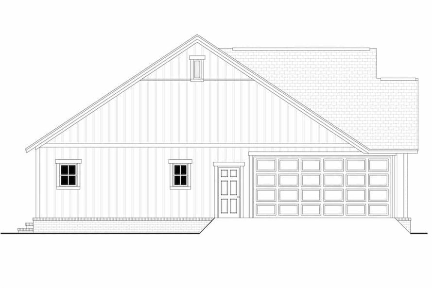 Home Plan Left Elevation of this 3-Bedroom,1398 Sq Ft Plan -142-1228