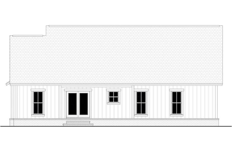 Home Plan Rear Elevation of this 3-Bedroom,1398 Sq Ft Plan -142-1228