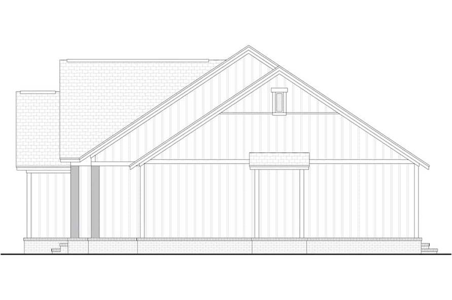 Home Plan Right Elevation of this 3-Bedroom,1398 Sq Ft Plan -142-1228
