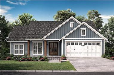 3-Bedroom, 1521 Sq Ft Ranch House - Plan #142-1229 - Front Exterior