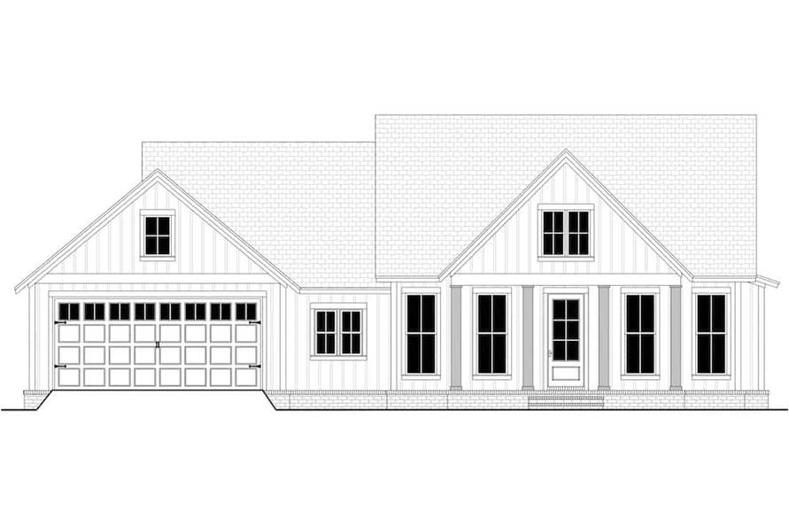 Home Plan Front Elevation of this 3-Bedroom,1706 Sq Ft Plan -142-1230