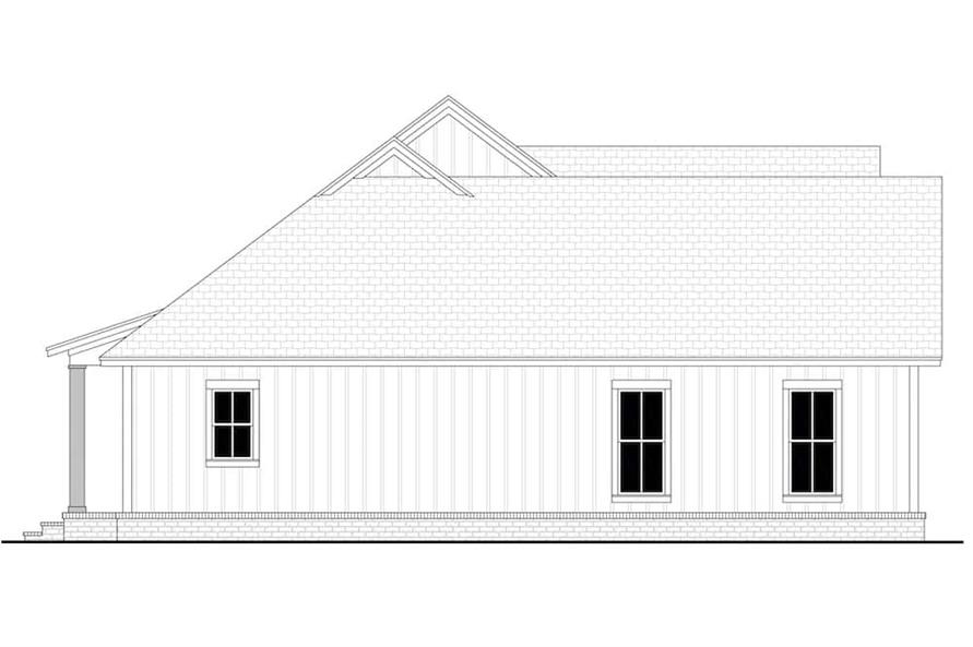 Home Plan Left Elevation of this 3-Bedroom,1706 Sq Ft Plan -142-1230