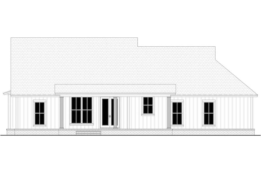 Home Plan Rear Elevation of this 3-Bedroom,1706 Sq Ft Plan -142-1230