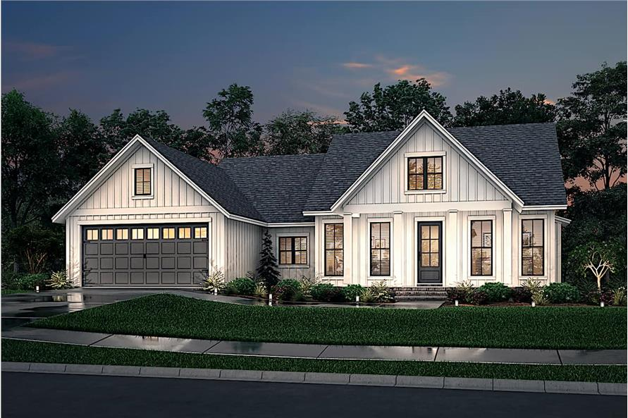 Home at Night of this 3-Bedroom,1706 Sq Ft Plan -142-1230