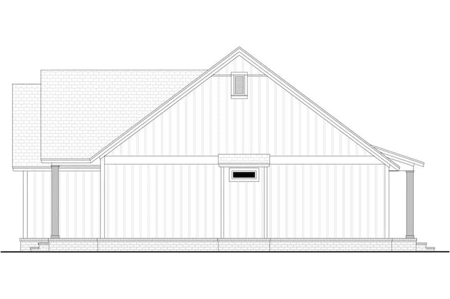 Home Plan Right Elevation of this 3-Bedroom,1706 Sq Ft Plan -142-1230