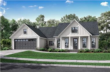 3-Bedroom, 1706 Sq Ft Ranch Home - Plan #142-1230 - Main Exterior