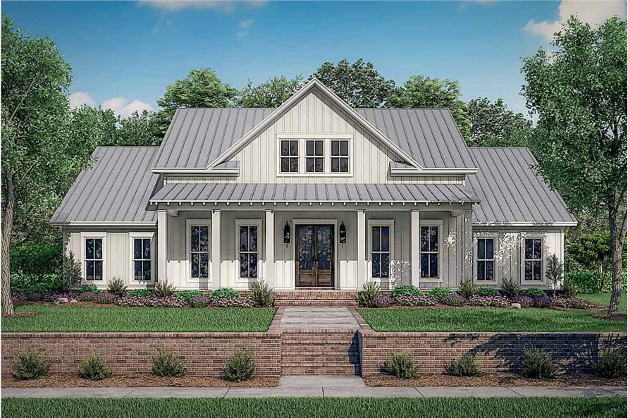 Front View of this 4-Bedroom,2390 Sq Ft Plan -142-1231