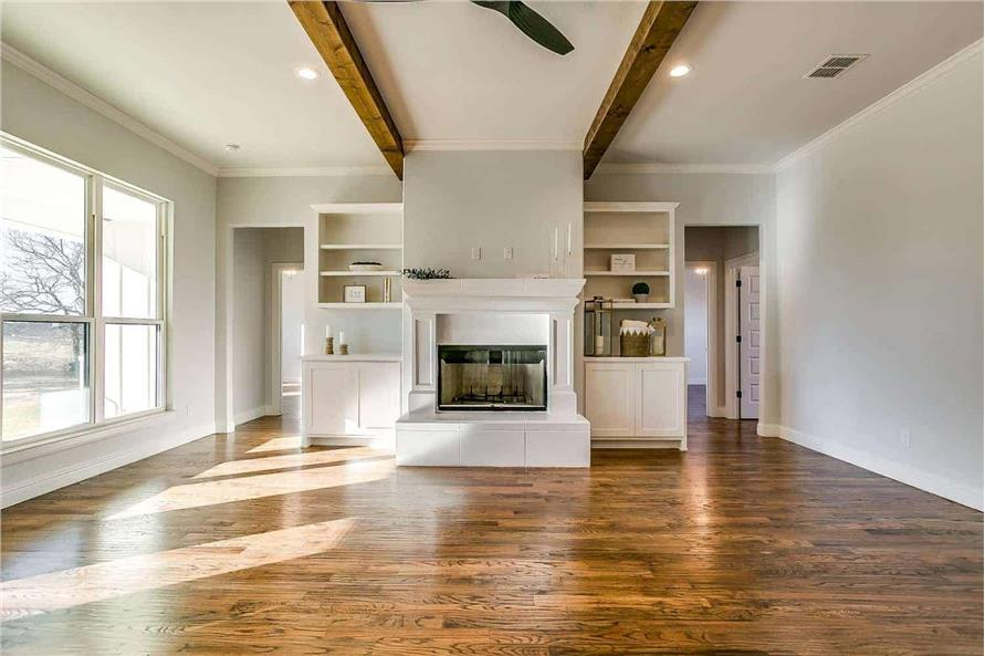 Great Room: Fireplace of this 4-Bedroom,2390 Sq Ft Plan -142-1231