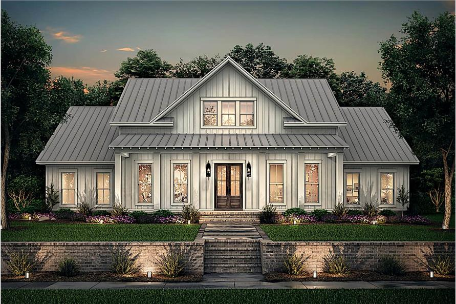 Home at Night of this 4-Bedroom,2390 Sq Ft Plan -142-1231