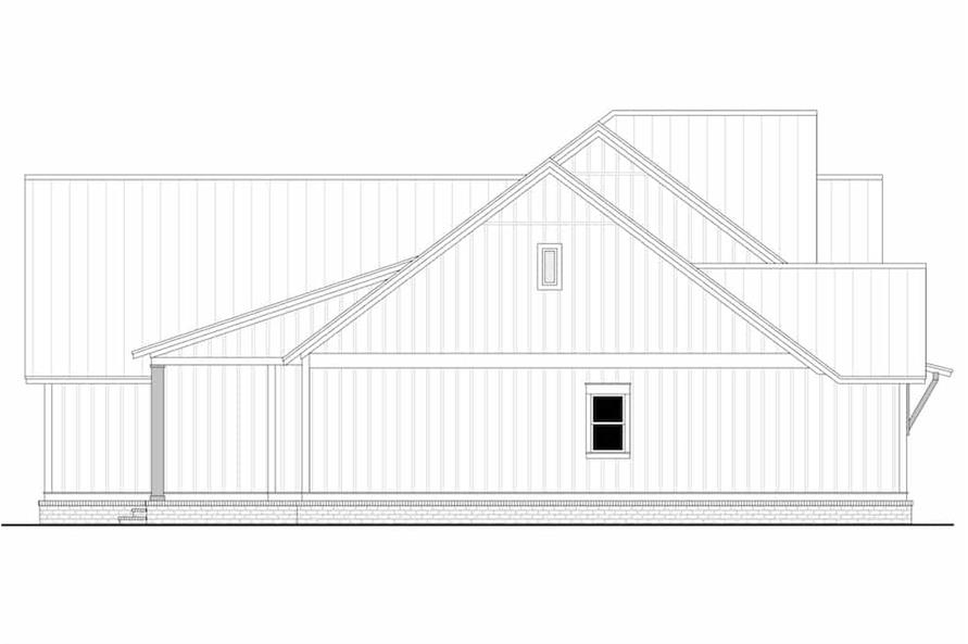 Home Plan Left Elevation of this 3-Bedroom,2553 Sq Ft Plan -142-1233