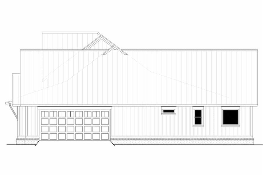 Home Plan Right Elevation of this 3-Bedroom,2553 Sq Ft Plan -142-1233