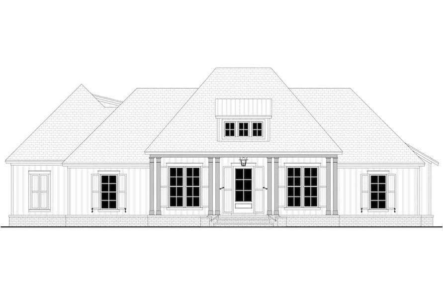 Home Plan Front Elevation of this 3-Bedroom,2588 Sq Ft Plan -142-1234