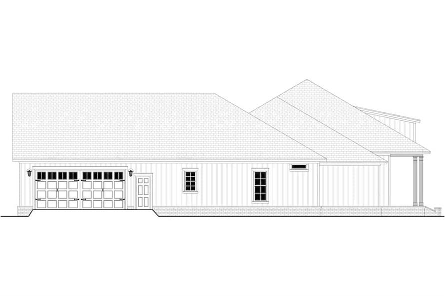 Home Plan Left Elevation of this 3-Bedroom,2588 Sq Ft Plan -142-1234