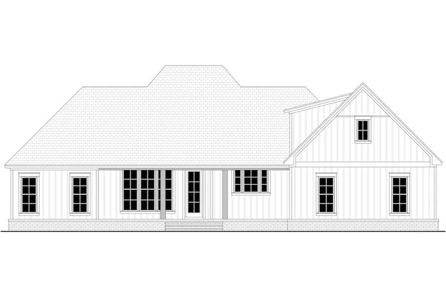 Home Plan Rear Elevation of this 3-Bedroom,2588 Sq Ft Plan -142-1234