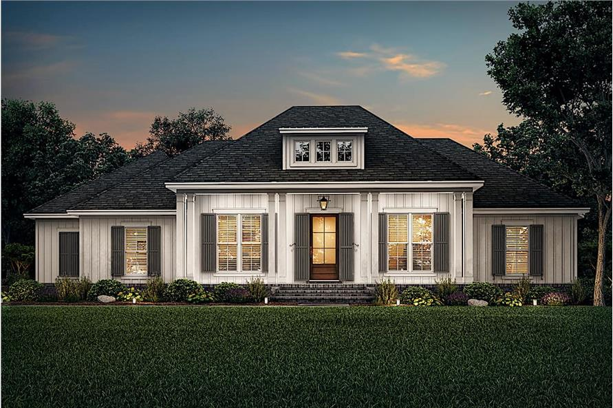 Home at Night of this 3-Bedroom,2588 Sq Ft Plan -142-1234