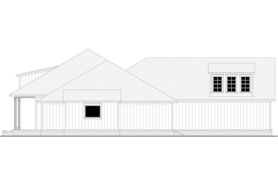 Home Plan Right Elevation of this 3-Bedroom,2588 Sq Ft Plan -142-1234