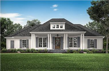 3-Bedroom, 2588 Sq Ft Contemporary Home Plan - 142-1234 - Main Exterior