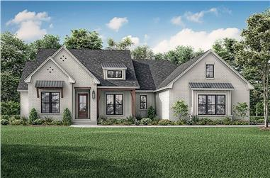 4-Bedroom, 2608 Sq Ft Acadian Home Plan - 142-1235 - Main Exterior