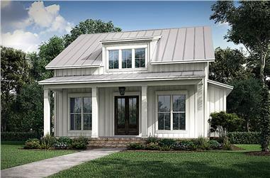 2-Bedroom, 1257 Sq Ft Ranch House - Plan #142-1236 - Front Exterior