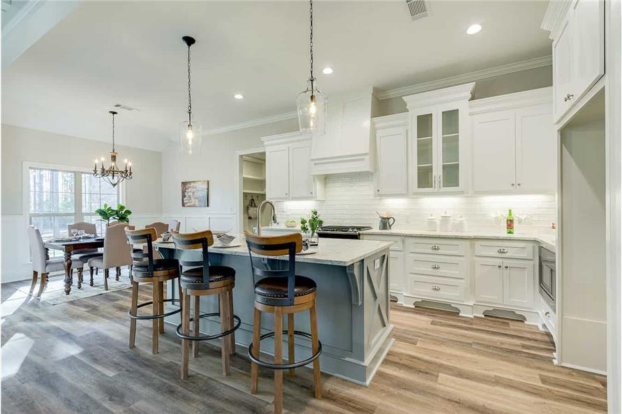Kitchen: Kitchen Island of this 4-Bedroom,2095 Sq Ft Plan -142-1237