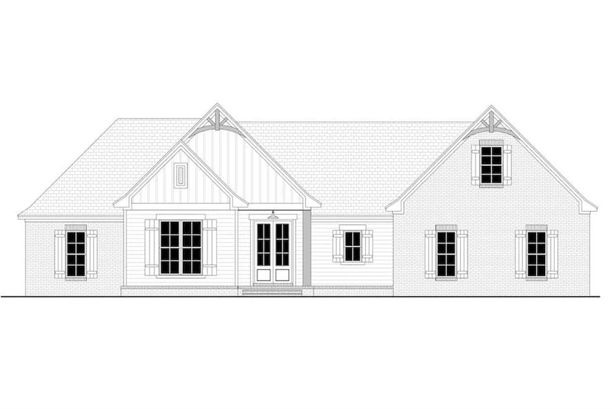 Home Plan Front Elevation of this 4-Bedroom,2095 Sq Ft Plan -142-1237
