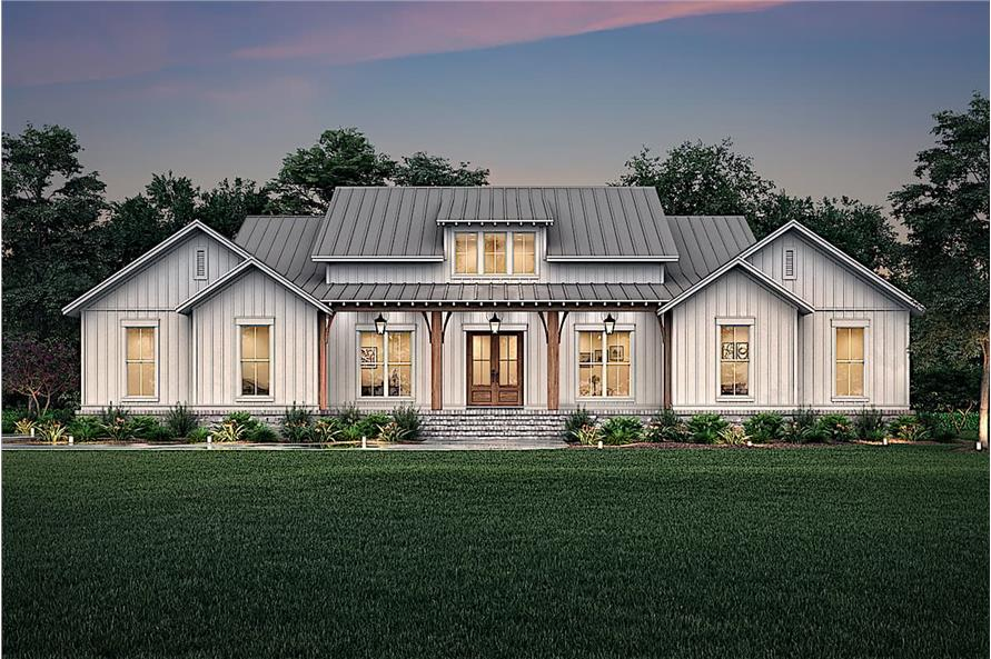 Home at Night of this 3-Bedroom,2589 Sq Ft Plan -142-1238