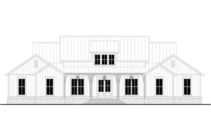 Home Plan Front Elevation of this 3-Bedroom,2589 Sq Ft Plan -142-1238
