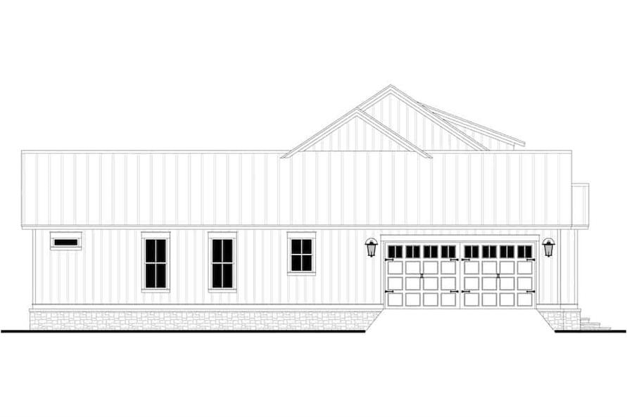 Home Plan Left Elevation of this 3-Bedroom,2589 Sq Ft Plan -142-1238