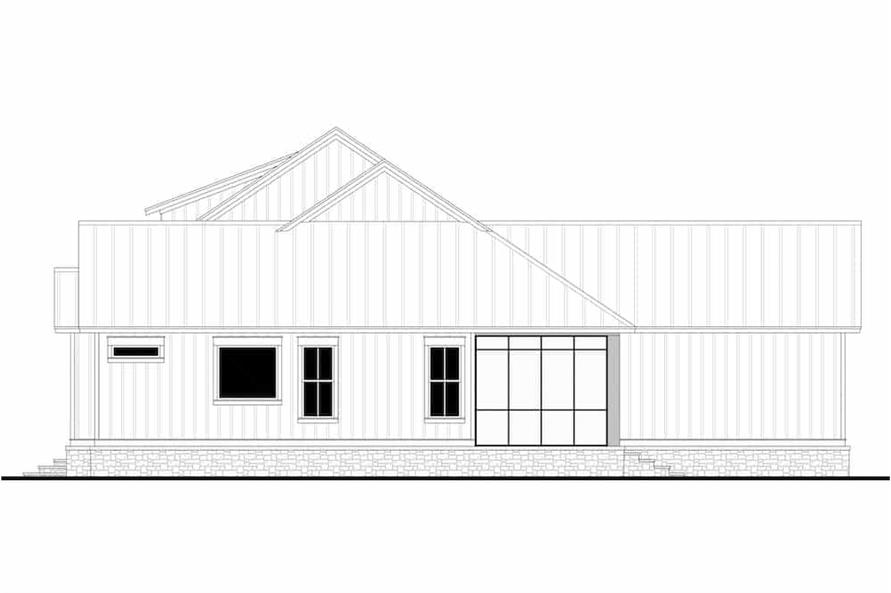 Home Plan Right Elevation of this 3-Bedroom,2589 Sq Ft Plan -142-1238