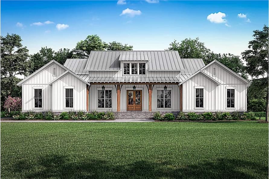 3-Bedroom, 2589 Sq Ft Farmhouse Home - Plan #142-1238 - Main Exterior