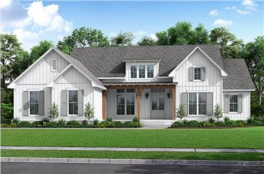 4-Bedroom, 2847 Sq Ft Ranch Home - Plan #142-1239 - Main Exterior