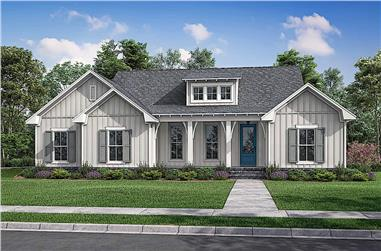 3-Bedroom, 1697 Sq Ft Contemporary House - Plan #142-1240 - Front Exterior