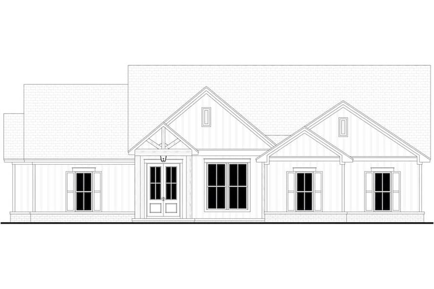Home Plan Front Elevation of this 4-Bedroom,1992 Sq Ft Plan -142-1241